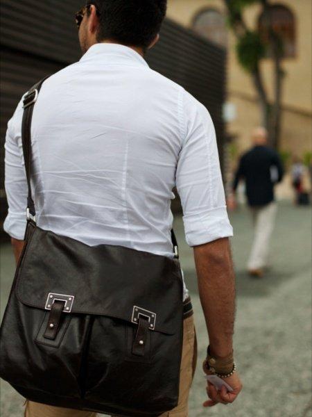 Картинки brodude.ru на тему мужских сумок. Почтальонская сумка.