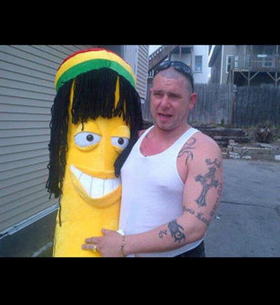 мужик с бананом