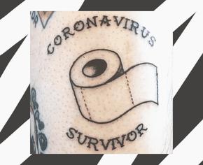 В тату-индустрии появился новый тренд — коронавирус и туалетная бумага