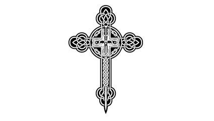 крест тату