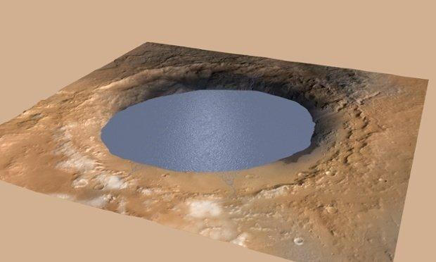 """Кратер Гейла на Марсе. Снимки марсохода """"Кьюриосити"""""""