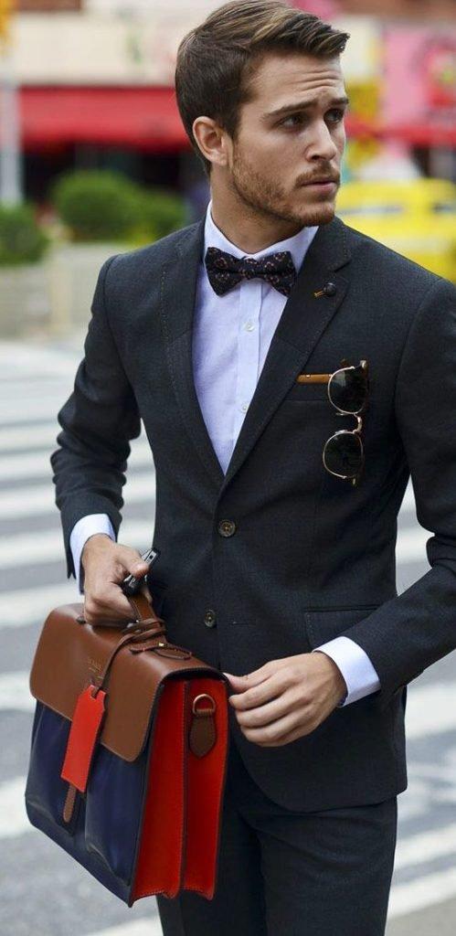 Картинки brodude.ru на тему мужских сумок. Сумка портфель, можно через плечо и с деловым костюмом
