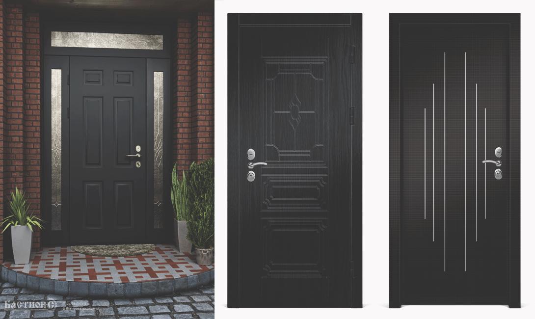 Черная входная дверь