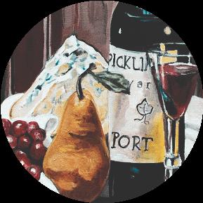 портвейн, закуска, фрукты